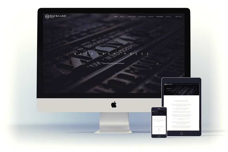 Backlash Press website design and branding project