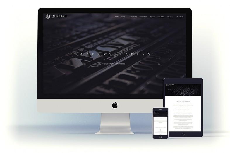 Backlash Press website design and branding project