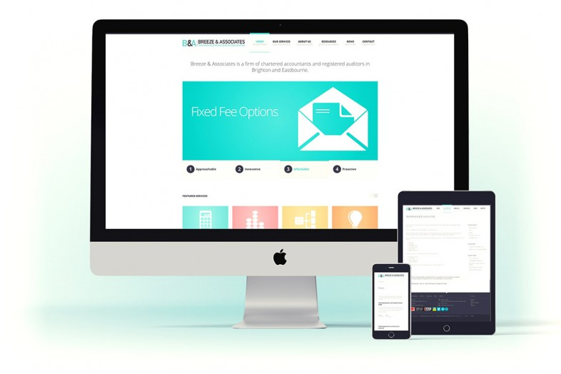 Breeze Accountants website design and branding project