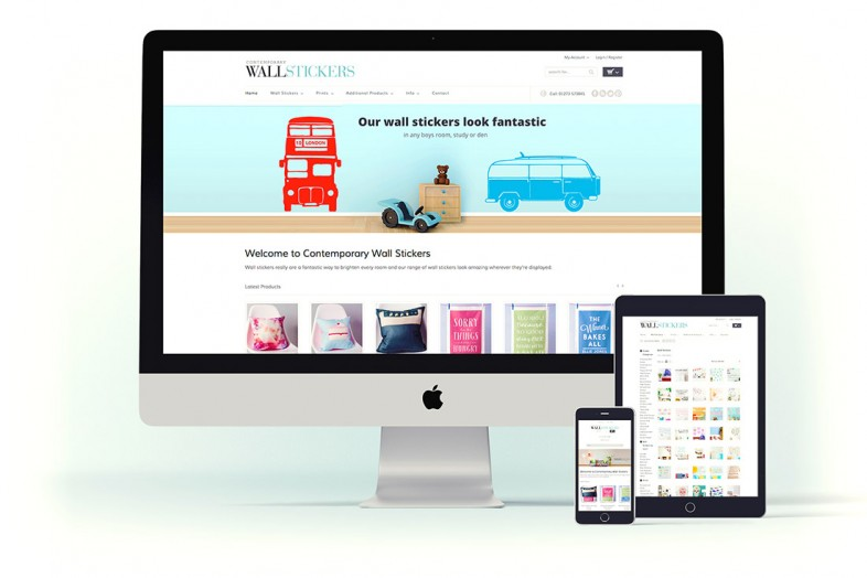 Contemporary Wall Stickers website design and branding project