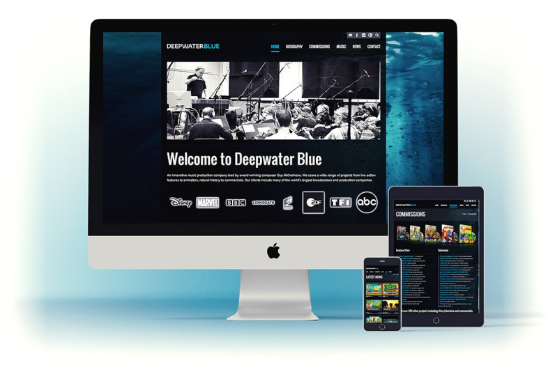 Deep Water Blue website design and branding project