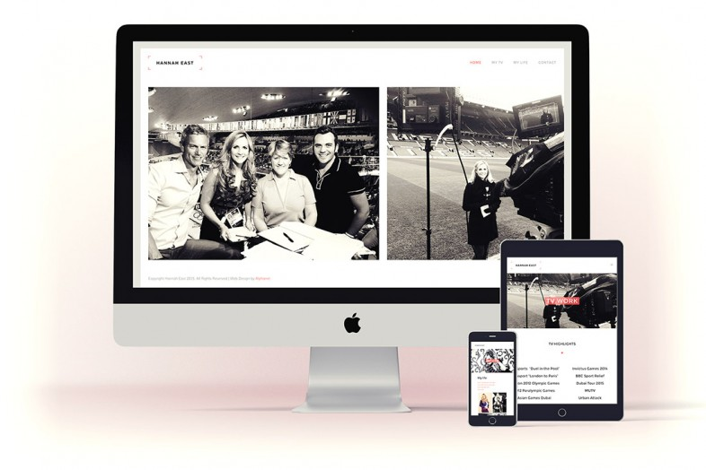 Hannah East Website design and branding project