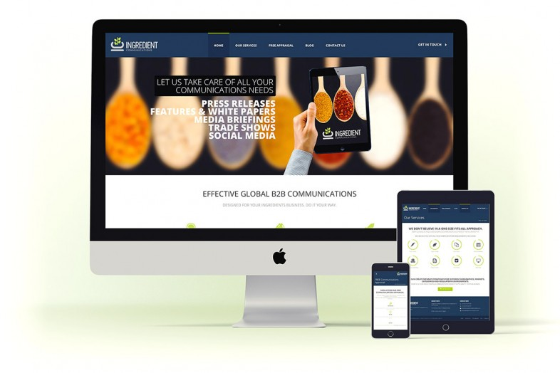 Ingredient Communications website design and branding project