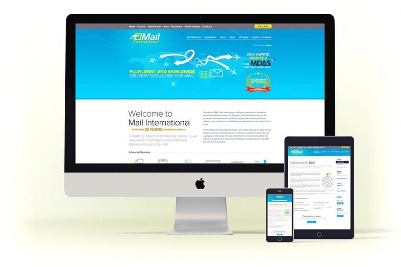 Mail International website design project