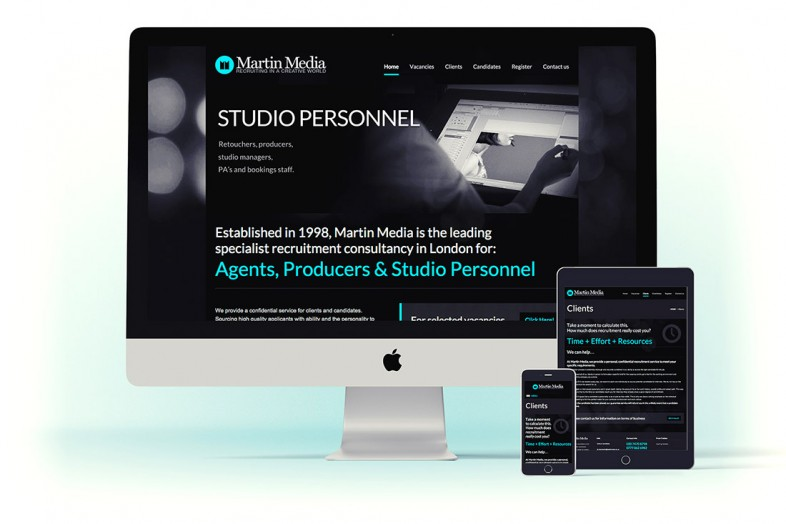 Martin Media website design and branding project