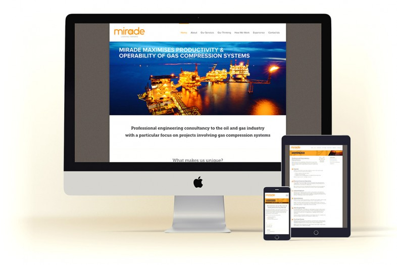 Mirade website design and branding project