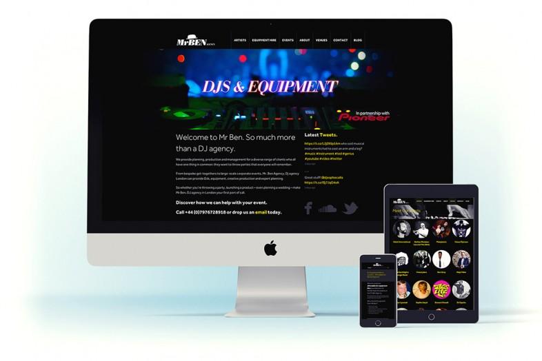MrBen DJ Agency website design and branding project