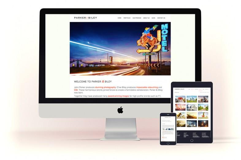 Parket & Biley website design and branding project