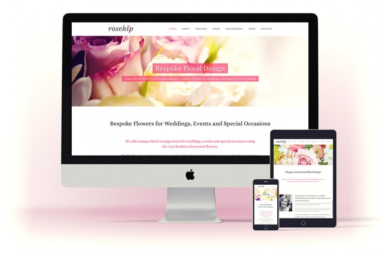 Rosehip website design and branding refresh project