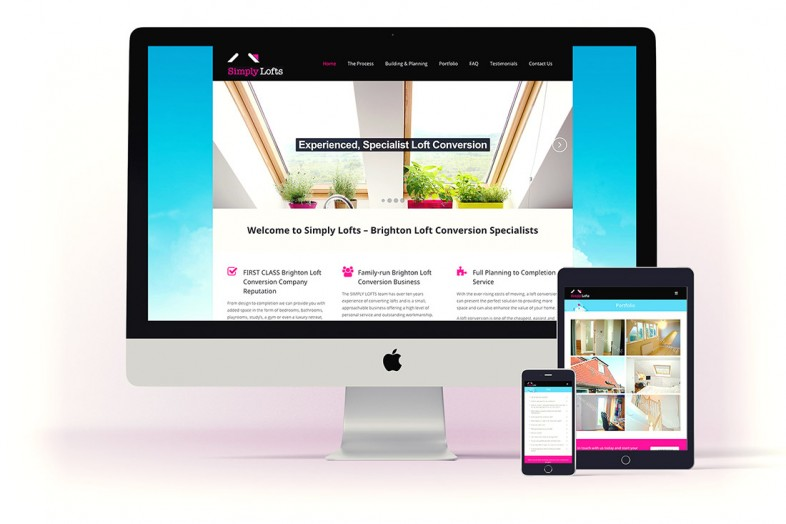 Simply Lofts website design and branding project