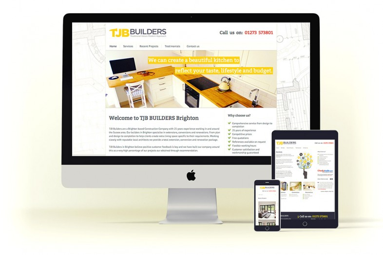 TJB Builders website design and branding project