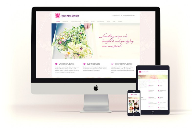 Tony Dunn Flowers website design project