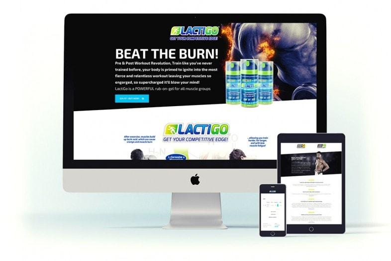 LactiGo website design and e-commerce