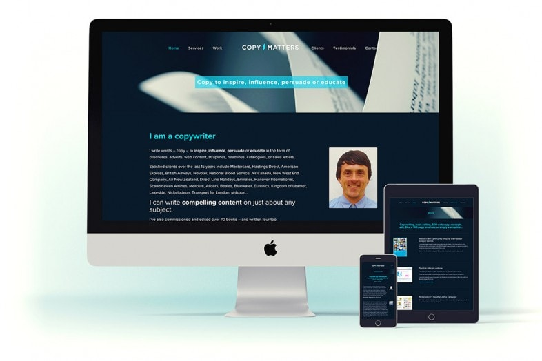 CopyMatters website design and branding