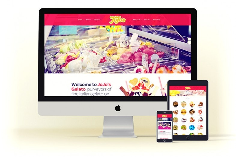 Jojo's Gelato Website design project