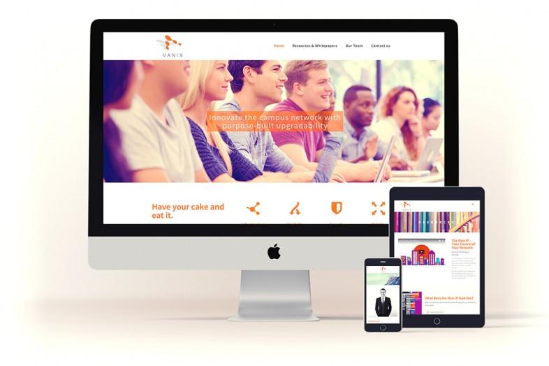 Vanix content managed website project