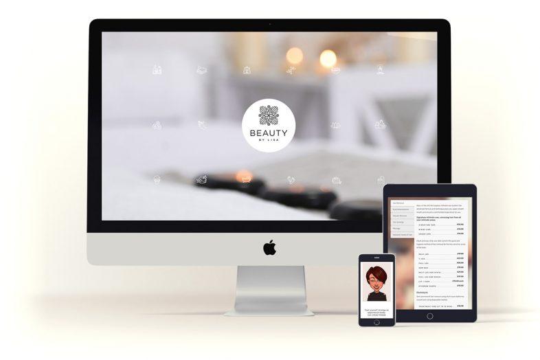 BeautyByLisa-website-design