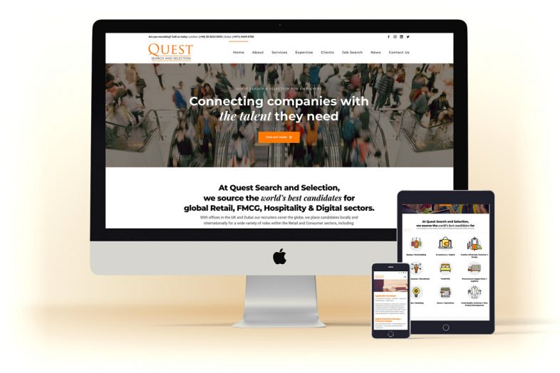 Questsearch responsive website design